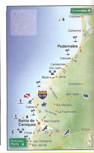 bahia de caraquez ecuador map