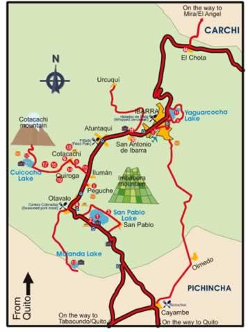 cotacachi ecuador map