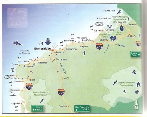 esmeraldas ecuador map