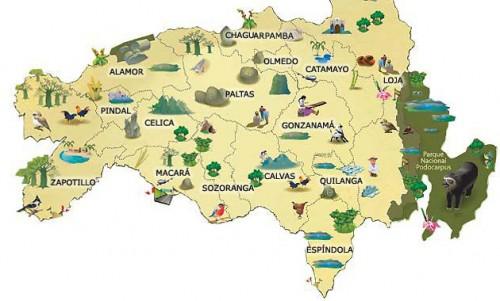 Loja Ecuador Map