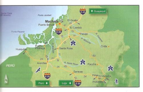 map of machala ecuador