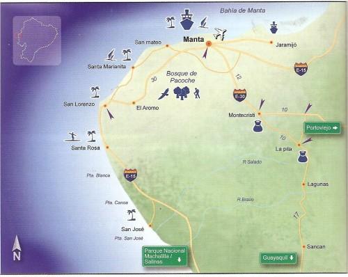 map of manta ecuador