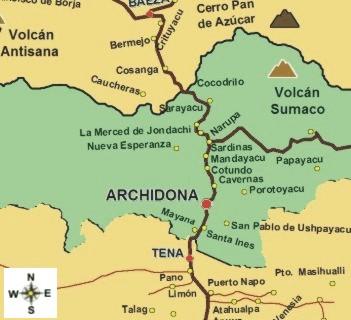 Tena, Napo Ecuador Map