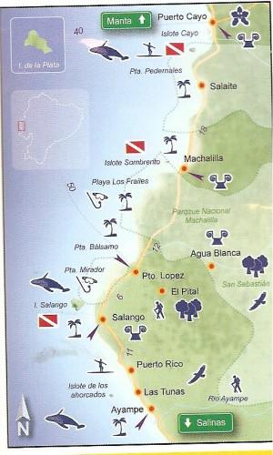 puerto lopez ecuador map
