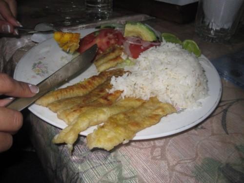 salinas ecuador food: Corvina