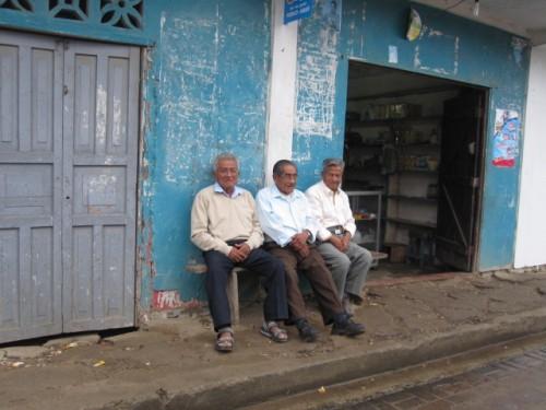 locals hanging out in Montanita Ecuador