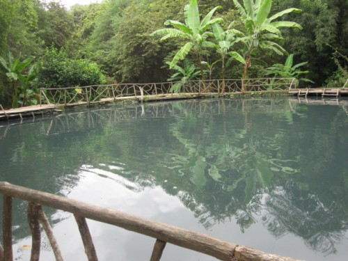 The mud pond in Machalilla, said to have healing powers