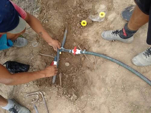 installing-water-to-lot-in-ecuador