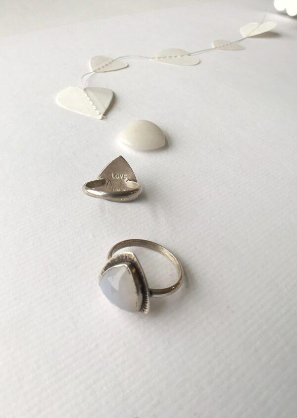 Divine Feminine Ring sterling silver moonstone quartz