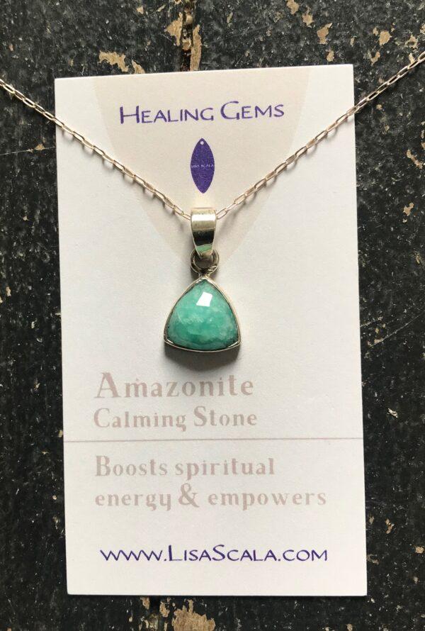 Devine Feminine Amazonite Pendant sterling