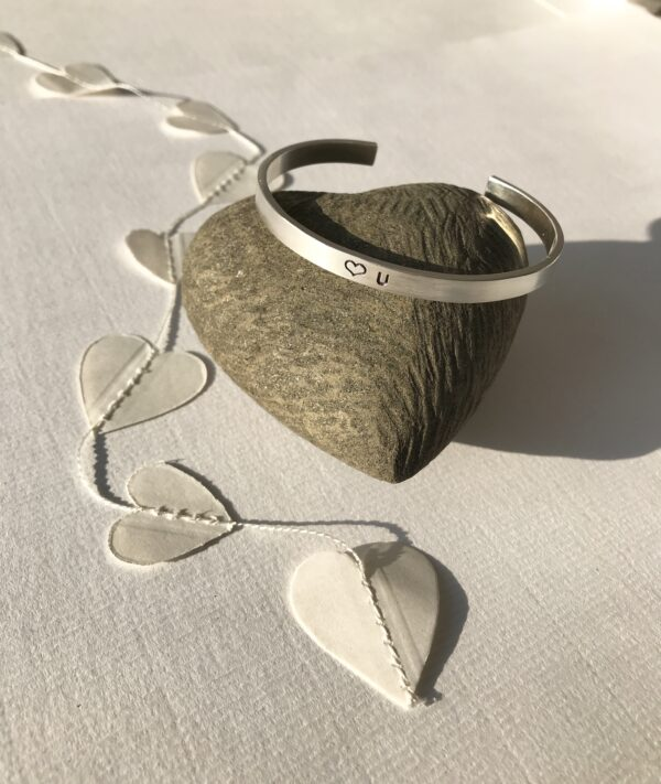 Love U Sterling silver Cuff Bracelet