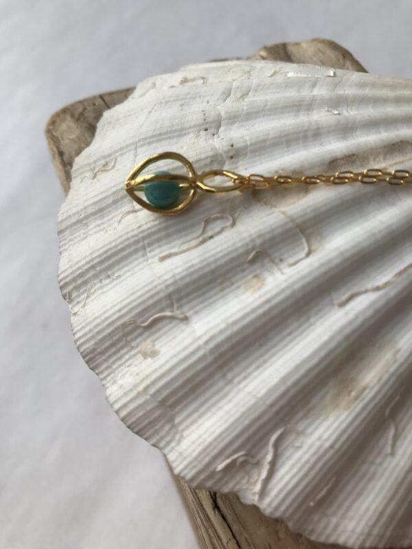 Gem Pod Turquoise Sterling Silver 18kt gold