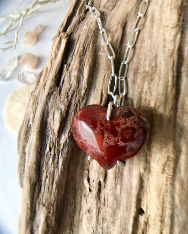 Forever My Heart Red Jasper Sterling Necklace Kit