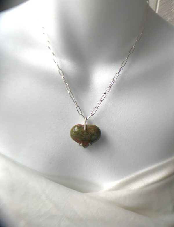 Forever My Heart Unakite Sterling Necklace Kit
