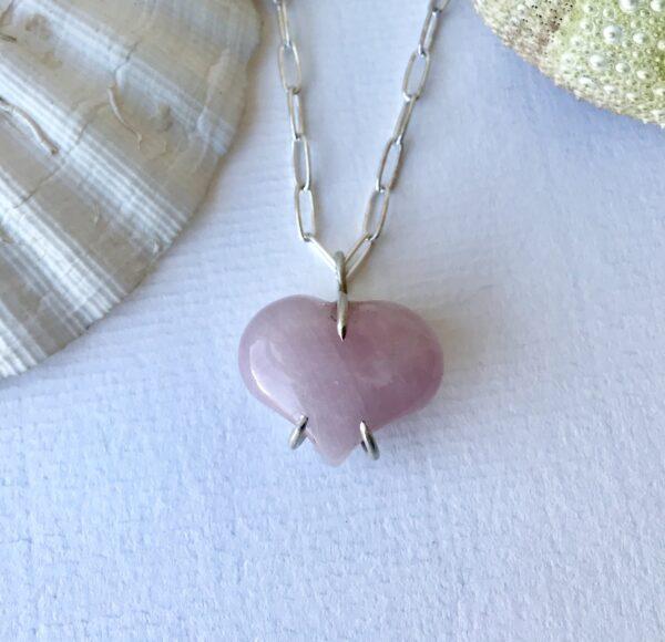 Forever My Heart Rose Quartz Sterling Necklace Kit