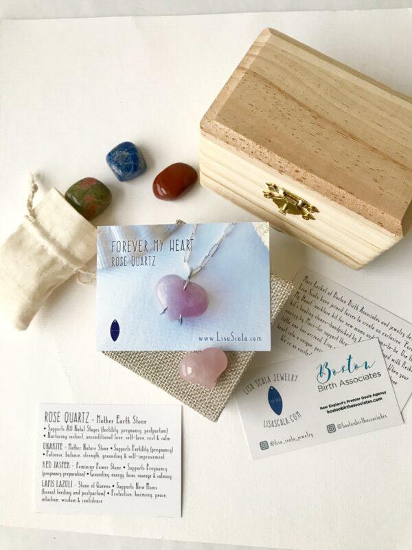 Rose Quartz Forever My Heart Necklace Kit
