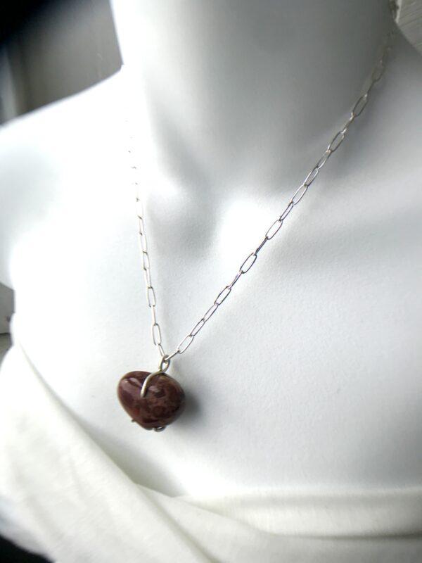 Red Jasper Forever My Heart necklace kit