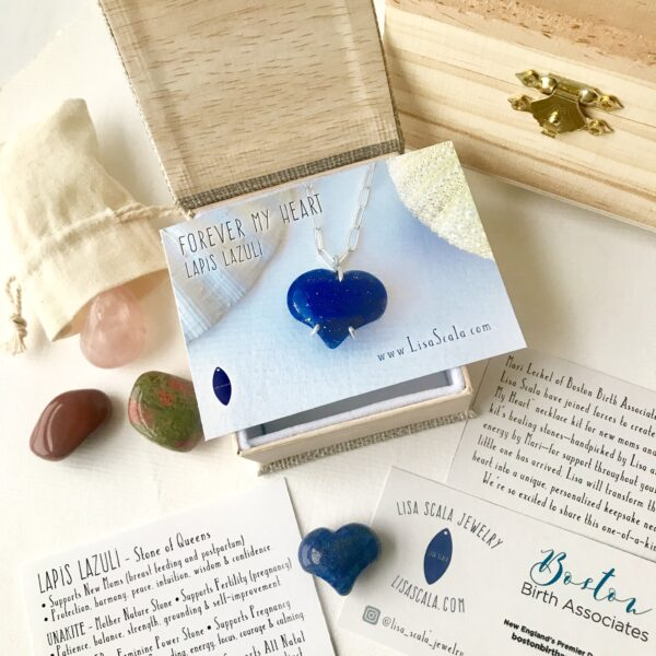 Lapis Lazuli Forever My Heart Necklace Kit