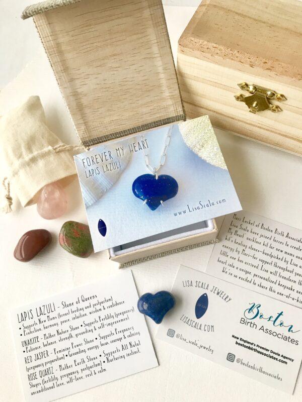 Lapis Lazuli Forever My Heart Necklace Kit