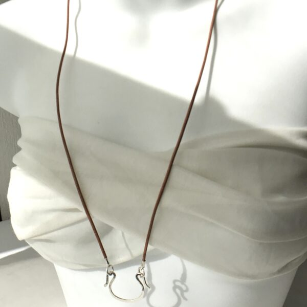 Boho Charm Holder, Leather & Sterling