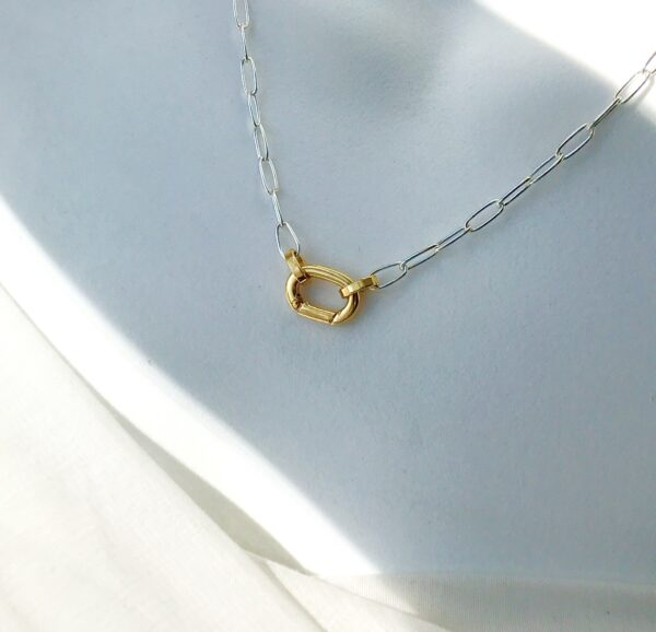 carabiner chain necklace 18kt/brass sterling