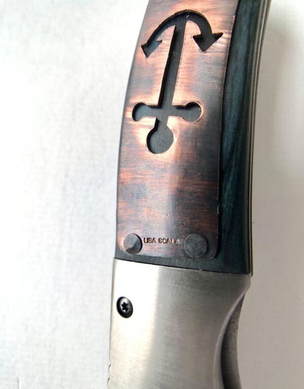 Anchor Wood customized pocket knife