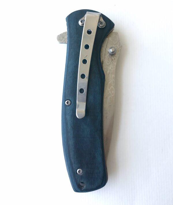 Blue Wood customized pocket knife