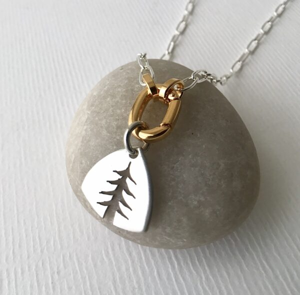 Silver Pine Tree Charm - Sterling