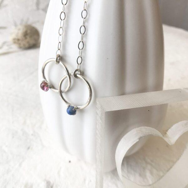 Partner Gemstone Necklace -Sterling