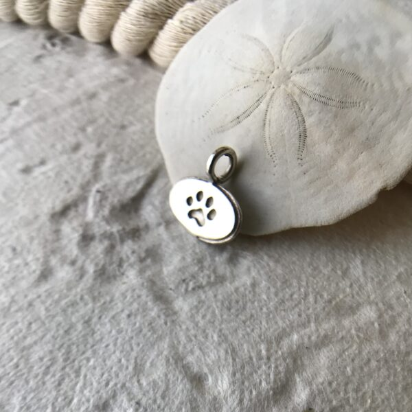 Paw Print Charm - Sterling Silver