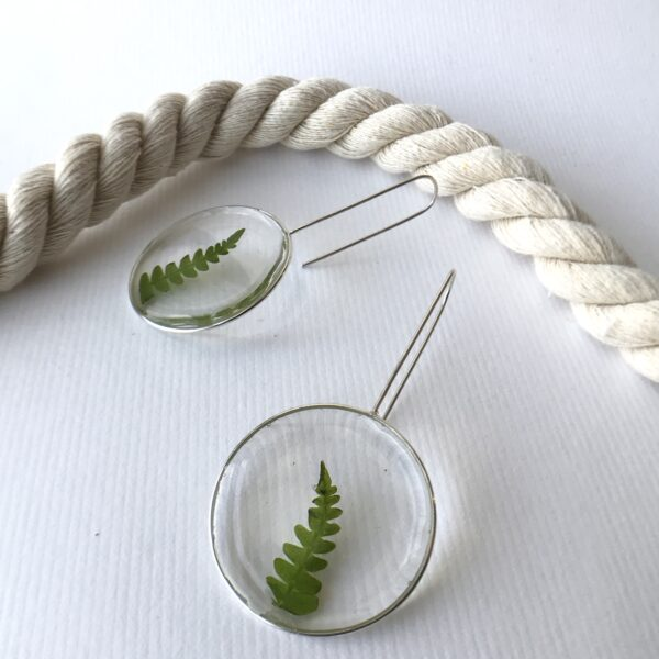 Meadow Moon Earrings Fern