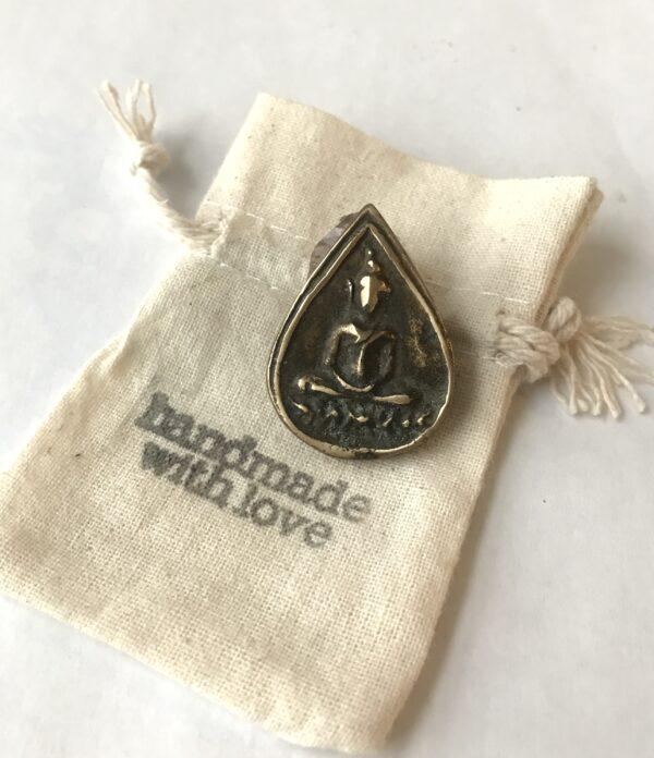 Thai Amulet Bronze Token