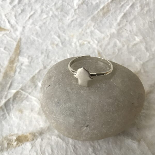 """Hamsa"" Spirit Ring - Sterling Silver"
