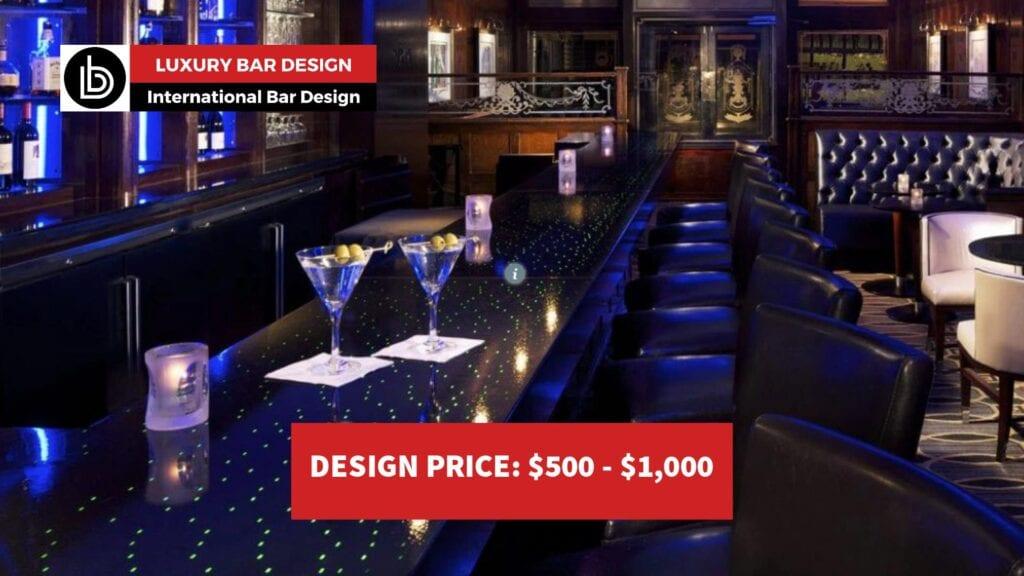 Backlit bar top design