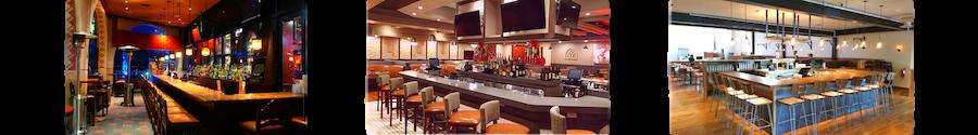 Examples of standard bar designs by Cabaret Design Group