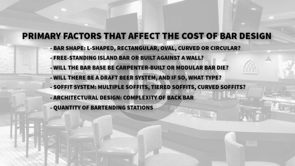 Top 7 factors that affect the cost of bar design