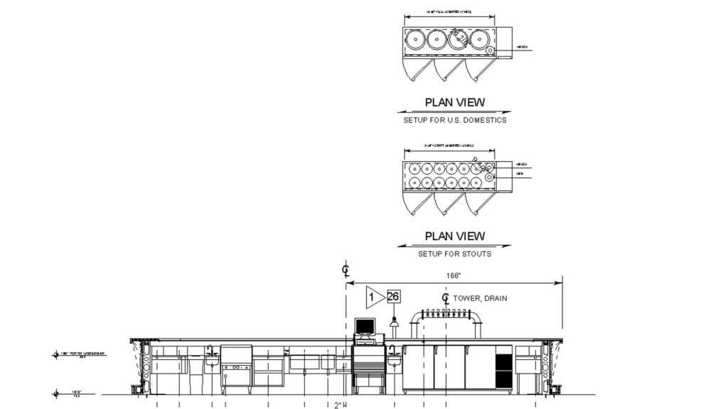Architectural plan of custom kegerator