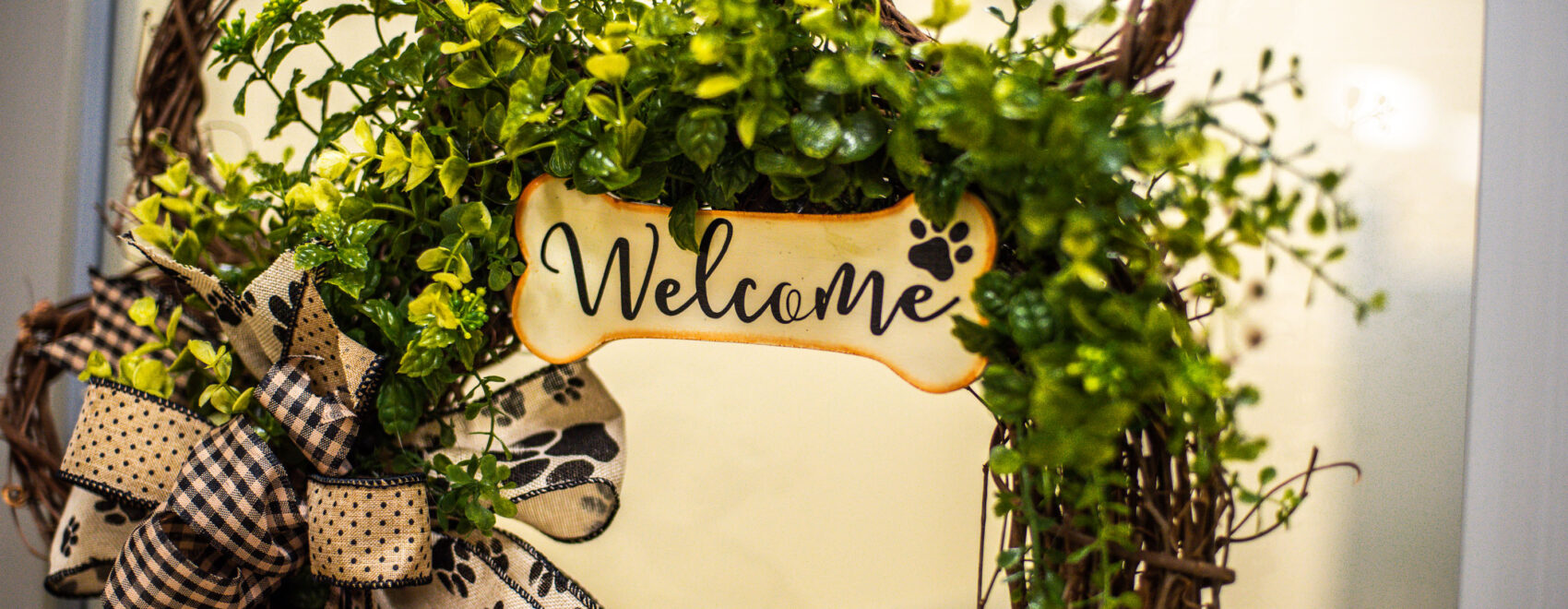 Welcome Sign at Bed & Bark
