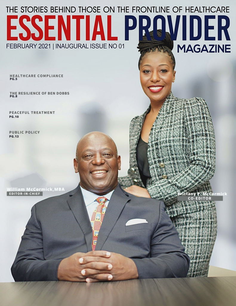 Cover features William McCormick & Daughter Brittney McCormick