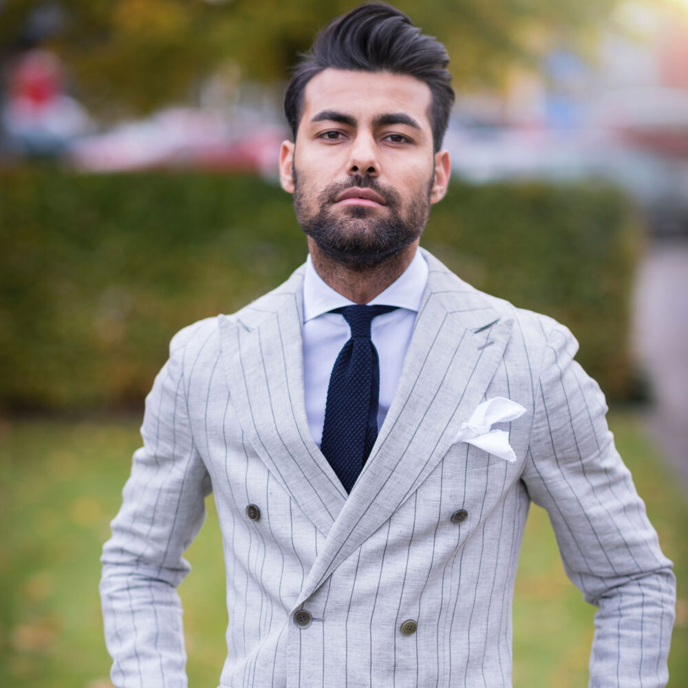 Gentleman standing in suit
