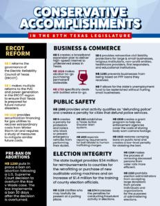 87th Session Conservative Accomplishments