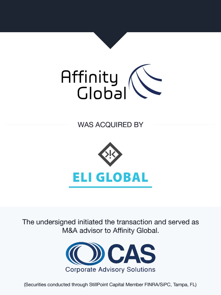 Affinity Global | Select Transaction | Corporate Advisory Solutions