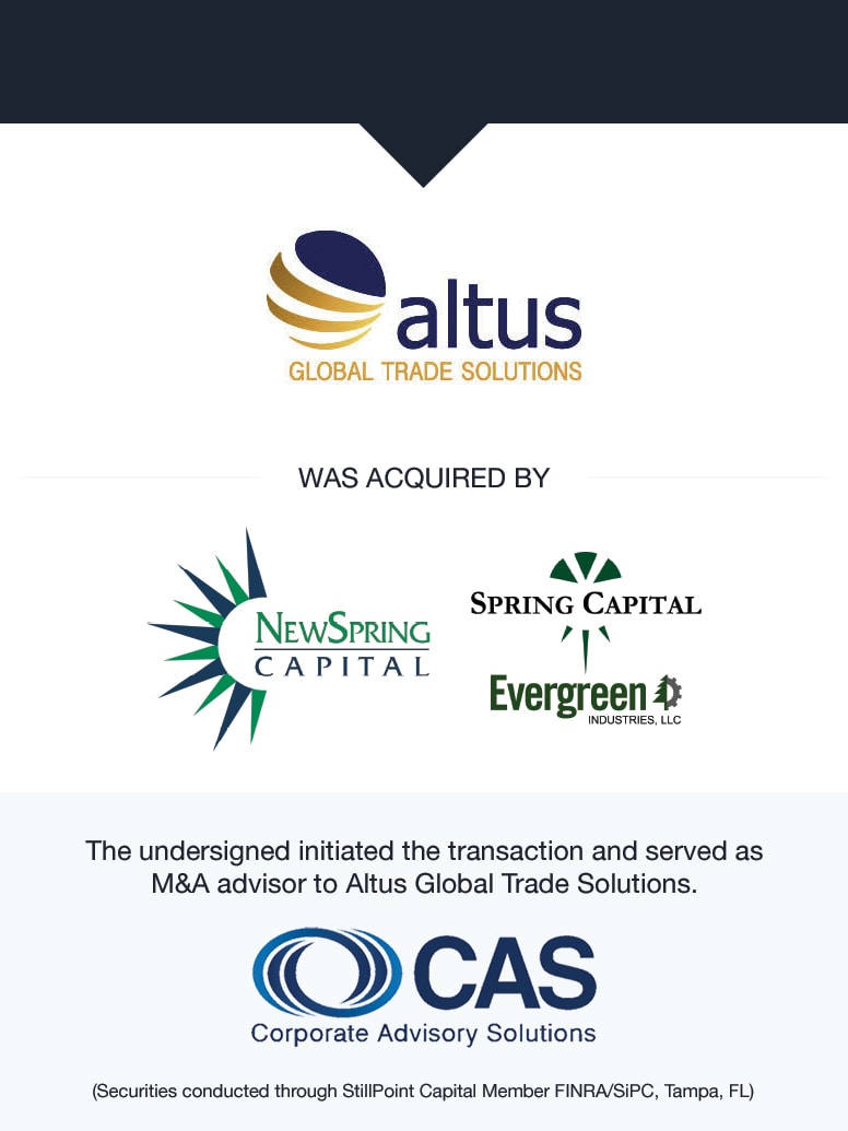 Altus Global Trade Solutions   Select Transaction   Corporate Advisory Solutions
