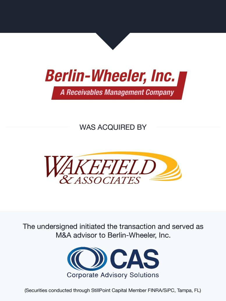 Berlin-Wheeler, Inc.   Select Transaction   Corporate Advisory Solutions