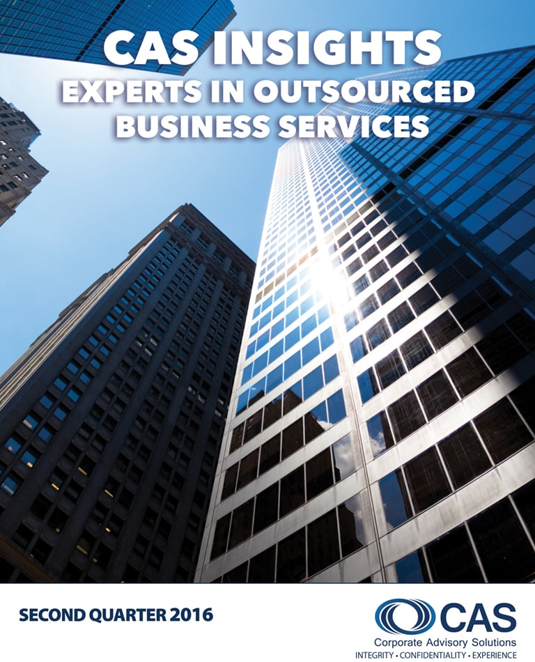CAS Newsletter   Q2 - 2016   Corporate Advisory Solutions