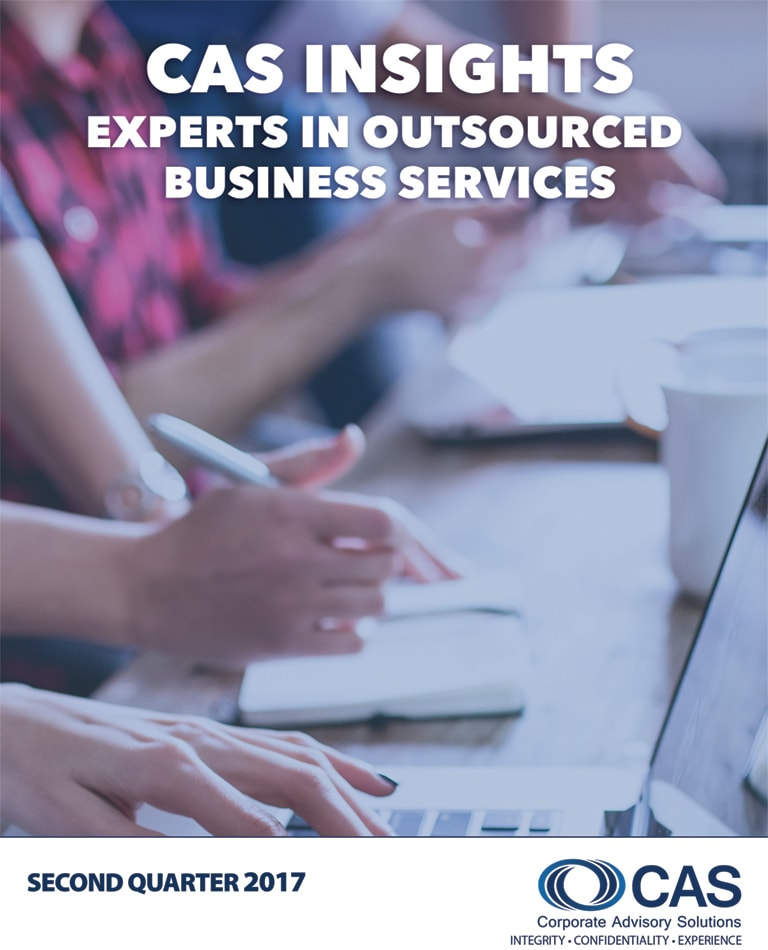 CAS Newsletter   Q2 - 2017   Corporate Advisory Solutions