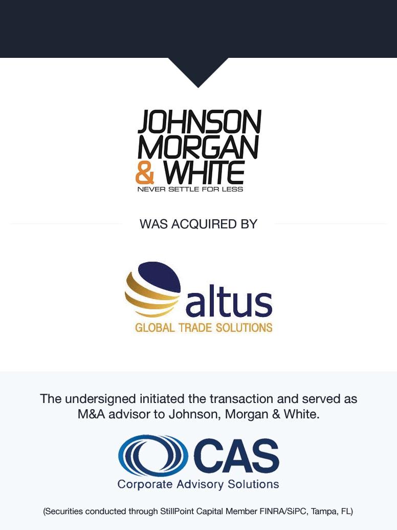 Johnson, Morgan & White   Select Transaction   Corporate Advisory Solutions