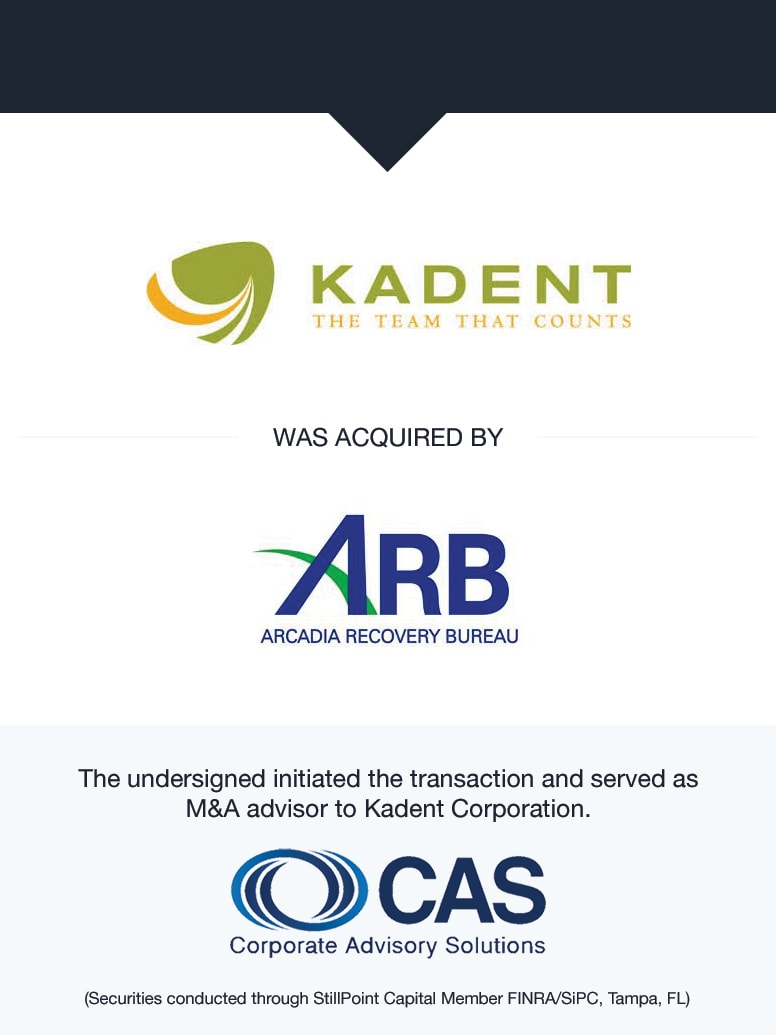 Kadent   Select Transaction   Corporate Advisory Solutions