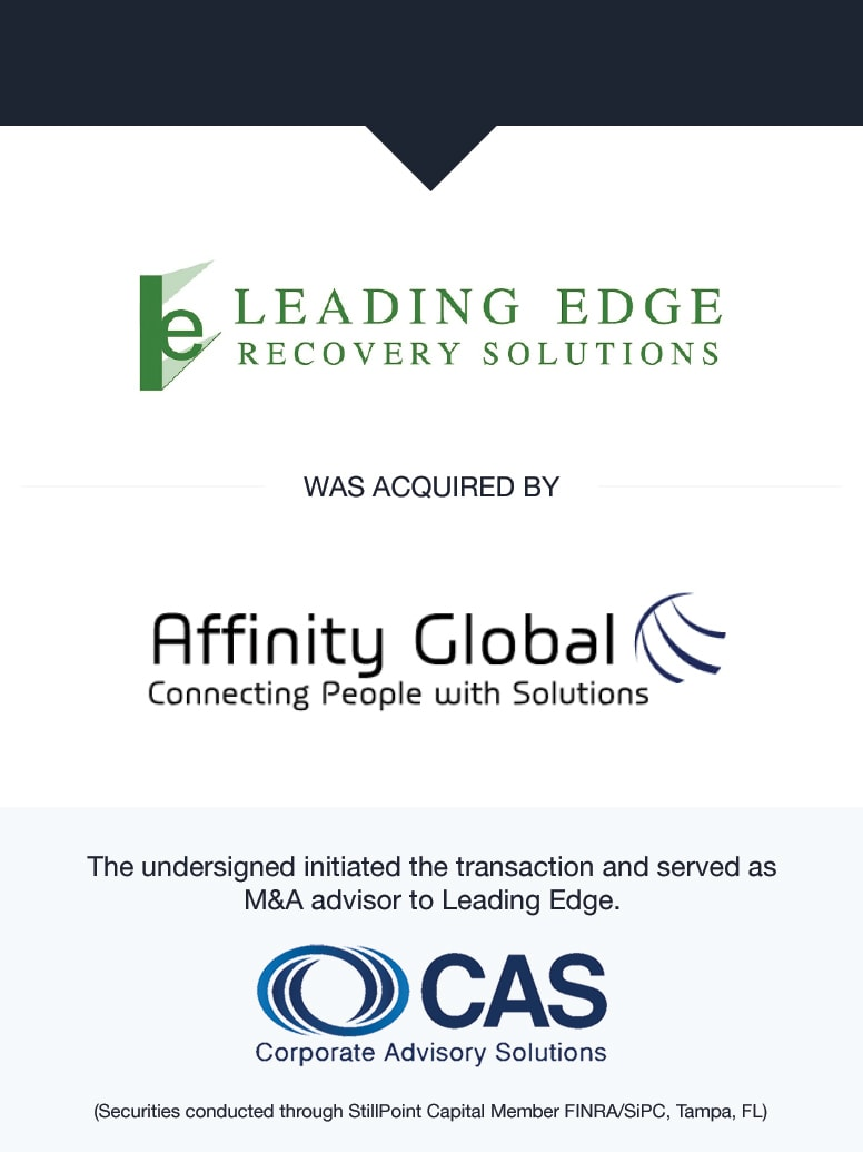 Leading Edge Recovery Solutions   Select Transaction   Corporate Advisory Solutions