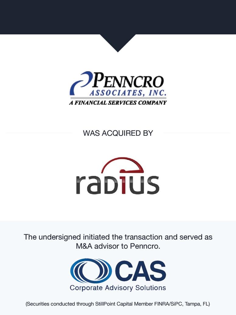 Penncro Associates, Inc.   Select Transaction   Corporate Advisory Solutions